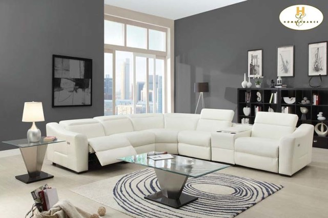 cream full leather chaise sectional sofa love seat beds modern white reclining ...