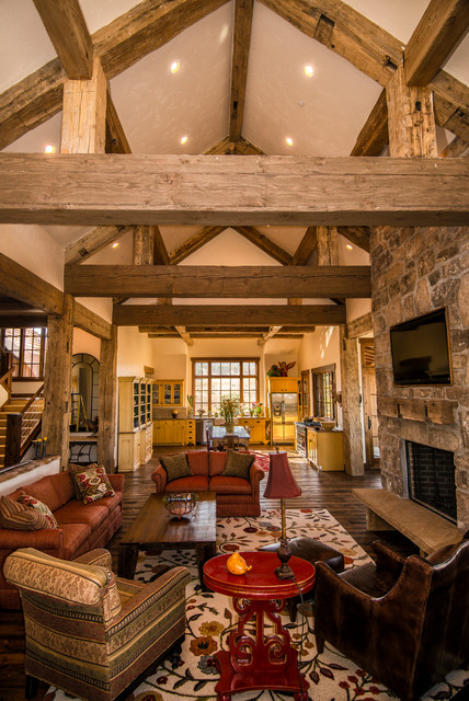 log home living room decorating ideas grey and yellow decor hand-hewn timber in heber city, utah - rustic ...