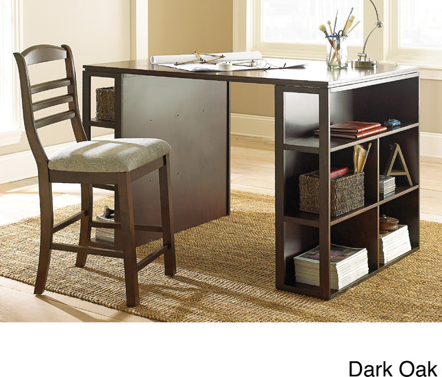 Barclay Black Counter Height Desk  Contemporary  Desks