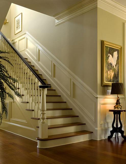 Nice moldings accentuate interior