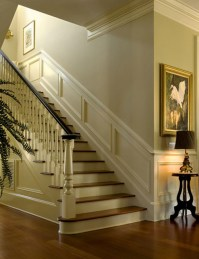 Nice moldings accentuate interior