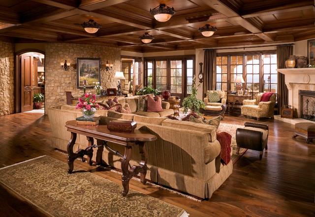 Anaheim Hills Tuscan Villa Mediterranean Living Room