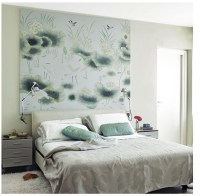 art as focal point over bed