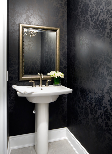 Jane Lockhart Interior Design modern powder room