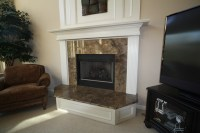 Granite Fireplace Surround - Traditional - Family Room ...