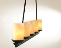 Antique 5 Marble Candle Shades Pendant Lighting ...