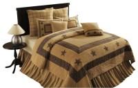 Soft Burlap Star Quilt - Rustic - Quilts And Quilt Sets ...