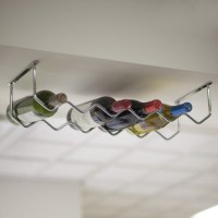 Under Cabinet Chrome 6-Bottle Wine Rack - Contemporary ...