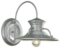 "Budapest 12"" Wide Galvanized Outdoor Wall Light"