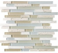 F12 Tranquility Linear Glass Stone Blend Mosaics ...