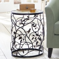Bird Barrel Table - Traditional - Side Tables And End Tables