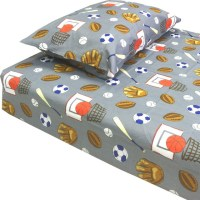 Grey American Sports Bedding Twin-Single Bed Sheet Set ...