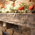 Elmwood reclaimed timber reclaimed antique hand hewn beam fireplace