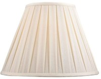 Full Size Off White Linen Box Pleat Shade 8""