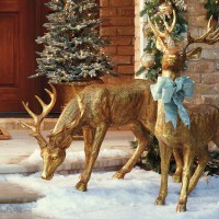Best 28+ - Christmas Deer Yard Decorations - santa sleigh ...
