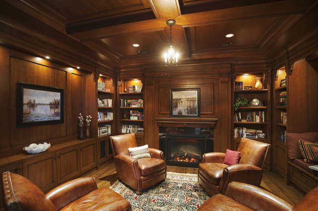 wood and leather executive office chairs armless chair ikea library - victorian living room vancouver by old world kitchens & custom cabinets