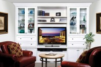 White Entertainment Unit - Traditional - other metro - by ...