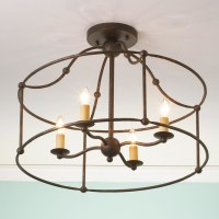 Wrought Iron Frame Ceiling Lantern Ceiling Light - by ...