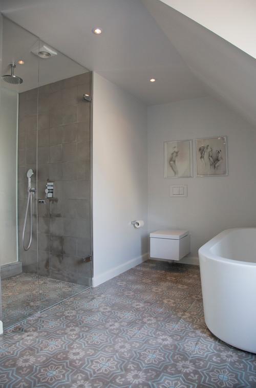 RoyaumeStyleDeco, salle de bain gris et blanc