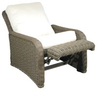 Hauser Coastal All Weather Wicker Recliner with Cushions ...