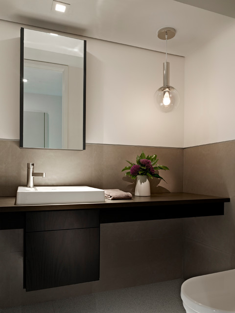 Society Hill Townhouse  Contemporary  Powder Room  philadelphia  by k YODER design LLC