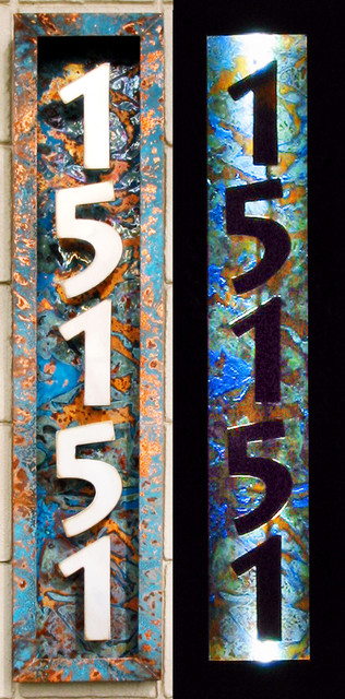 Illuminated House Numbers  Modern  House Numbers  portland  by Aztec Artistic Productions