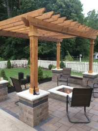 Westerville patio, pergola fire-pit - Traditional - Patio ...