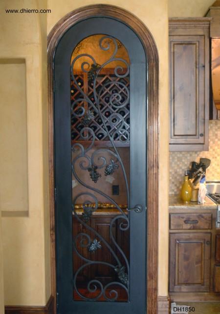 wrought iron pendant lights kitchen granite countertops doors - interior mediterranean ...