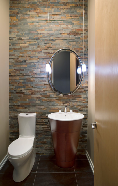 Modern Color  Modern  Powder Room  other metro  by