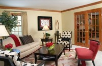 Pops of color, mixing patterns - Contemporary - Living ...