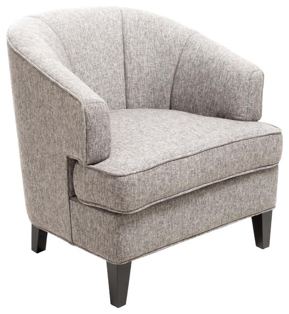 Camden Grey Fabric Club Chair  Contemporary  Armchairs