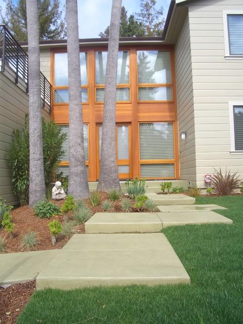 front yard zen spot asian-entry