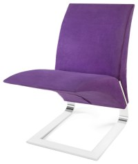Purple Microfiber Bouncy Dining Chair - Contemporary ...
