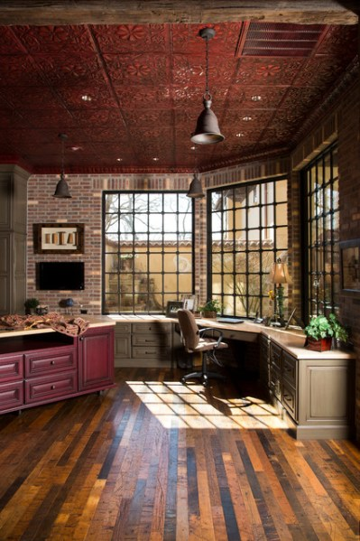 rustic home office design Rustic Lodge style home - Rustic - Home Office - houston