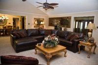 Ranch Style Home - Traditional - Living Room - houston ...