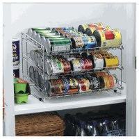 Deluxe Chrome Canned Food Storage Rack - Contemporary ...