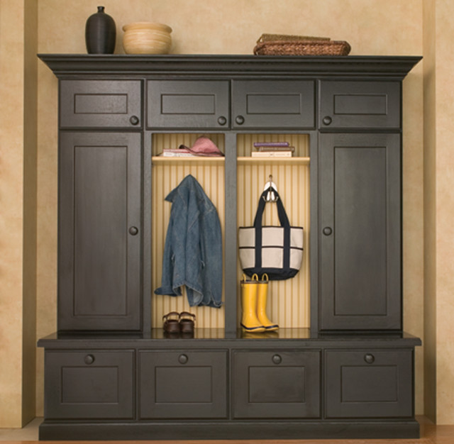 Entryway Boot Benches and Mudroom Lockers