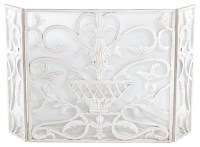 """""""White Urn"""" Fireplace Screen - Traditional - Fireplace ..."""