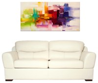 Modern abstract paintings - Modern - Living Room - miami ...
