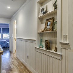 Remodeling Kitchen Ideas Engineered Wood Flooring Recessed Wainscoting Wall Niche - Traditional Hall ...