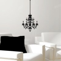Rhinestone Chandelier Vinyl Wall Decal - Eclectic - Wall ...