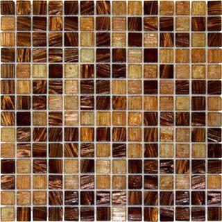 kitchen sinks houzz modern tile brown blend iridescent glass mosaic - ...