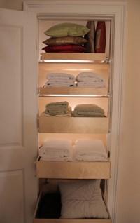 Pull Out Linen Closet Shelves - Closet Organizers - other ...