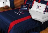 Houston Texans NFL Bedding - Sidelines Comforter and Sheet ...