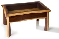 Live Edge Walnut Display Case Coffee Table - Contemporary ...