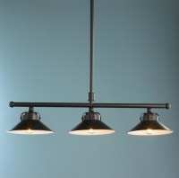 Industrial Inspired Cone Shade Island Chandelier - Lamp ...