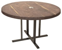Round Black Walnut Meeting Table by Cherrywood Studio ...