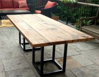 SALVAGED BARN BOARD DINING OUTDOOR DINING TABLE WITH METAL ...