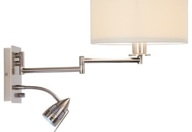 Swing Arm Wall Lamp Plug In Wall Mounted Reading Light