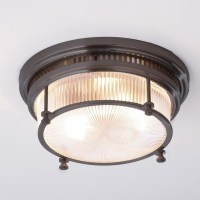 Fresnel Glass Industrial Flushmount Ceiling Light - Flush ...